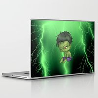 chibi Laptop & iPad Skins featuring Chibi Hulk by artwaste