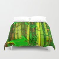 bamboo Duvet Covers featuring Bamboo by Robin Curtiss