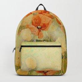 Vintage Poppies Backpack