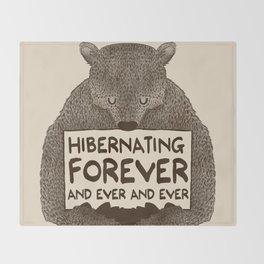 Hibernating Forever Throw Blanket