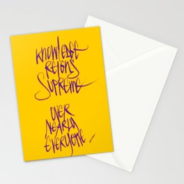 Knowledge #2 Stationery Cards