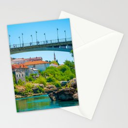 Bosnia and Herzegovina Mostar Bridges Rivers Stones Houses Cities bridge river stone Building Stationery Cards
