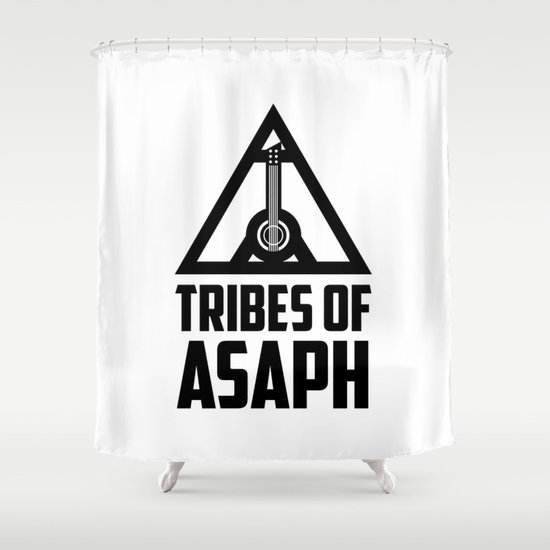 Tribes Of Asaph (Black on light) Shower Curtain