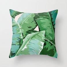 Banana leaf grandeur II Throw Pillow
