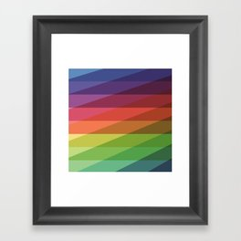 Fig. 040 Rainbow Stripes Framed Art Print