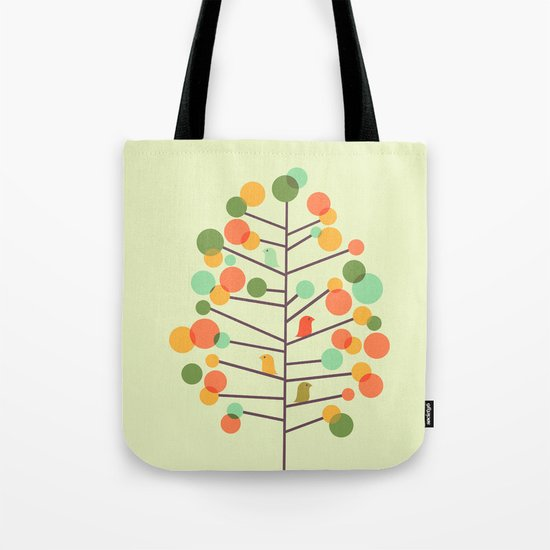 Happy Tree - Tweet Tweet Tote Bag