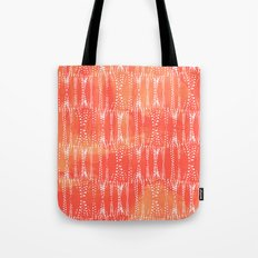 Dot Print - Orange Sherbet Tote Bag