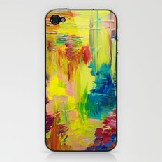 GOING THROUGH THE MOTIONS -  Stunning Saturated Bold Colors Modern Nature Abstract iPhone & iPod Skin