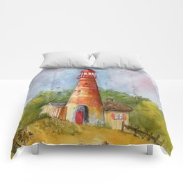 Red Lighthouse Comforters