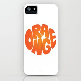 Type'o Orange iPhone Case