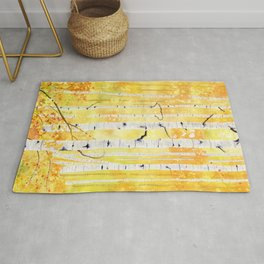 Autumn Birch Rug