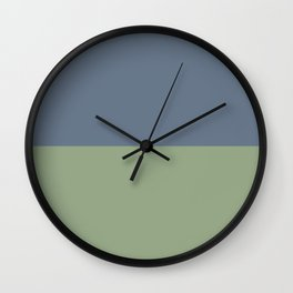 Payne's Grey/Asparagus Wall Clock