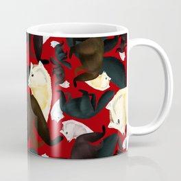 Marten tropical pattern Red Coffee Mug