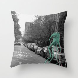 Unseen Monsters of New York - Makah  Throw Pillow