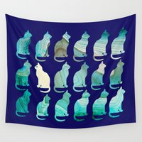 mineral Wall Tapestries featuring MINERAL CATTERN by Catspaws