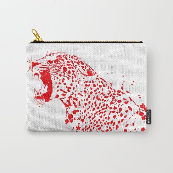 Sakura Leopard Carry-All Pouch