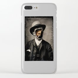 Gentleman Fox Clear iPhone Case