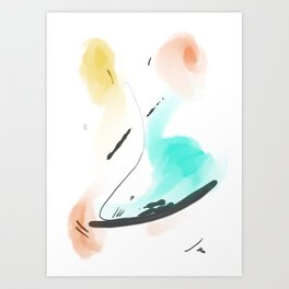 Abstract sunrise S3 Art Print