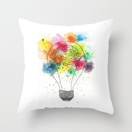 Creative brain Throw Pillow
