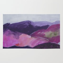 Roses Aren't Red 2 - Contemporary Abstract Landscape Rug