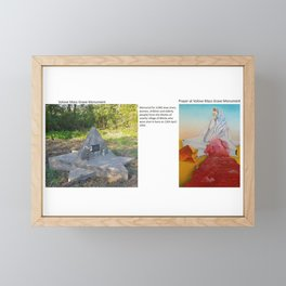 Prayer at Volove Mass Grave Monument Framed Mini Art Print