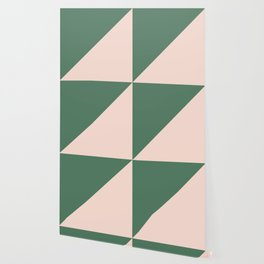Soft Pink & Army Green - oblique Wallpaper