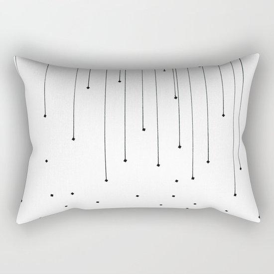 BLACK LITTLE RAIN Rectangular Pillow