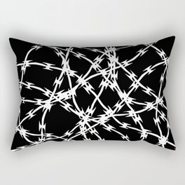 Trapped White on Black Rectangular Pillow