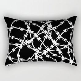 Trapped White on Black Rectangular Pillow