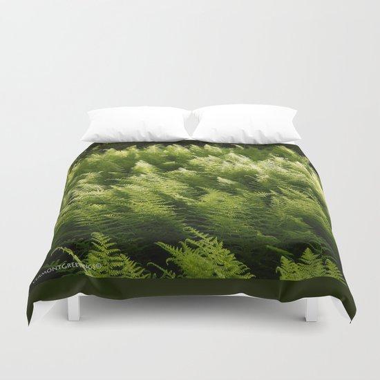 Light Magic in the Green Ferns Duvet Cover