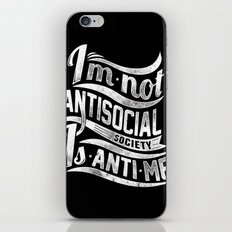 Not antisocial iPhone & iPod Skin