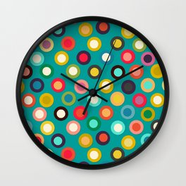 turquoise pop spot Wall Clock