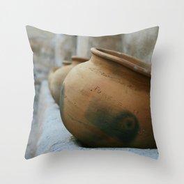 Tumacacori Pots fine art photography Throw Pillow