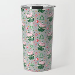 Christmas pig pattern Travel Mug