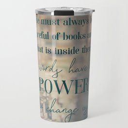 The power of books - Book Quote Collection Travel Mug