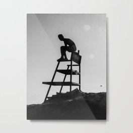 Beach Life - Lifeguard Metal Print