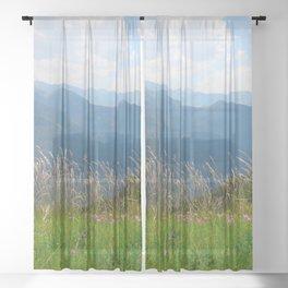 Mountain flowers Sheer Curtain