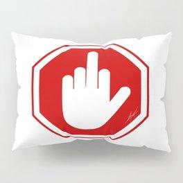 DAMAGED STOP SIGN Pillow Sham