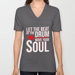 Drumming Drum Sticks Drummer Unisex V-Neck
