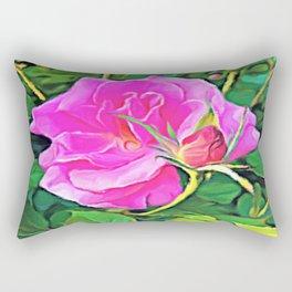 Pink Flower of Graceful Beauty Rectangular Pillow