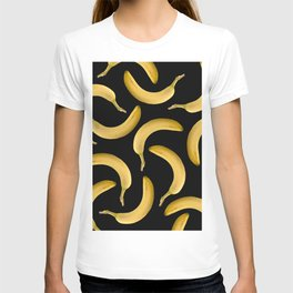 Bananas Pattern - black T-shirt