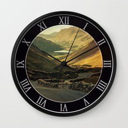 Scotland at the sunset Wall Clock