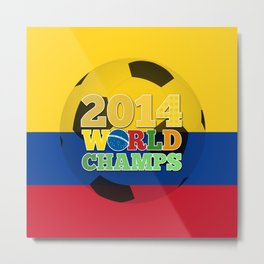 2014 World Champs Ball - Colombia Metal Print