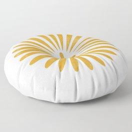 Happy Sunshine - yellow art, sunshine, boho art, bohemian, tile, home decor, yellow, yellow art print Floor Pillow