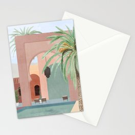 Moroccan Pool Stationery Cards