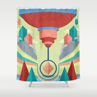 chandelier Shower Curtains featuring Chandelier by MattBlanksArt