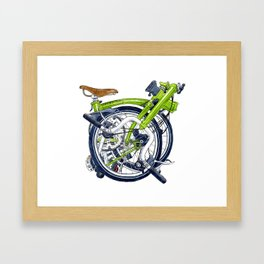 Brompton Folded green painting Framed Art Print