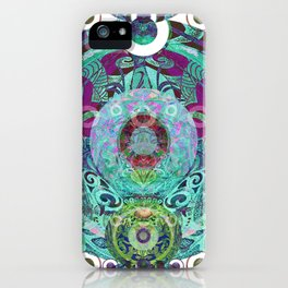 Psychedelic Tribal Orb iPhone Case
