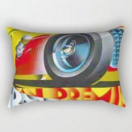 1949 Italian Grand Prix Ascari Motor Racing Vintage Poster Rectangular Pillow