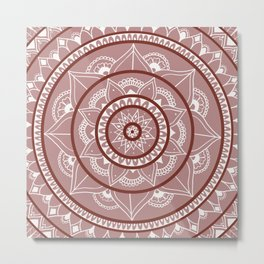 Blush Pink Mandala Metal Print